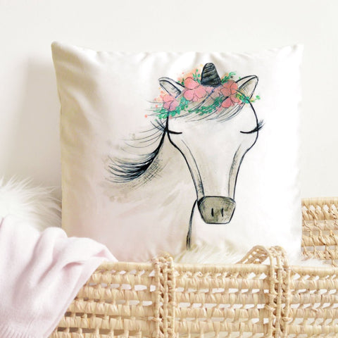 Zoey the Unicorn Pillow Cover