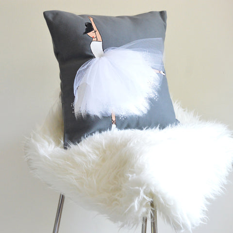 Ballerina Pillow Cover - Dressi Diva (Choose Your Colours)