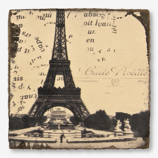 Cedar Mountain Studios: Lost + Found Art Block: Eiffel Tower