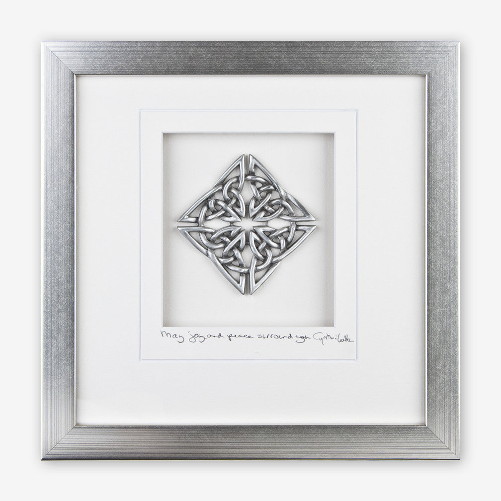 Cynthia Webb Designs: Framed Pewter: Celtic Knot, Diamond