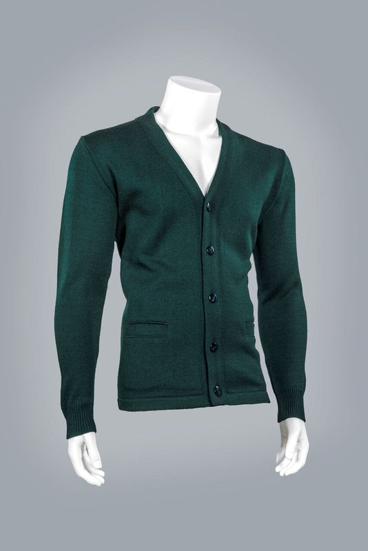 4018 V-Neck, Long Sleeve, Button Front Cardigan with Pockets
