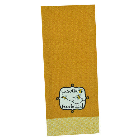 "Wholesale ""You're the Bee's Knees"" Embellished Dishtowel - DII Design Imports"