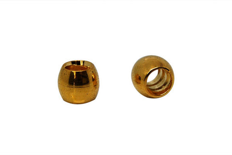 Metal Alloy Stopper Beads (Gold-Plated), 6x7mm