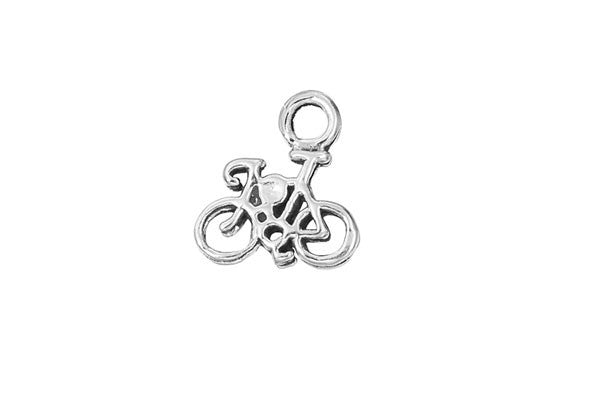 Sterling Silver Bicycle Sports Charm, 8.0x10.0mm