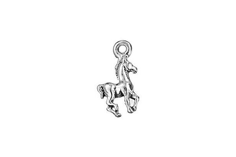 Sterling Silver Colt Charm, 11.0x6.0mm