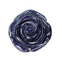 Pendant Blue Stone Carved Rose