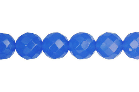 Blue Quartz Faceted Round