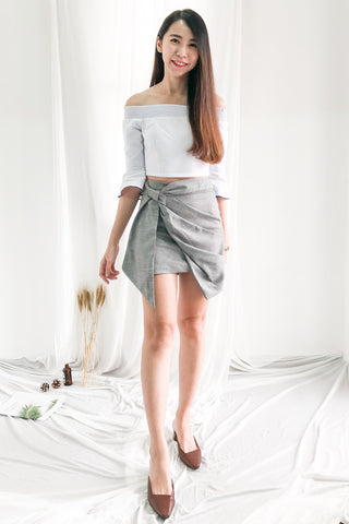 Sarrah Asymmetrical Skirt in Grey