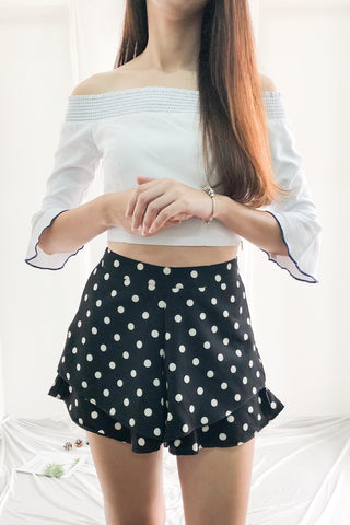 Cileste Shorts in Black Polka