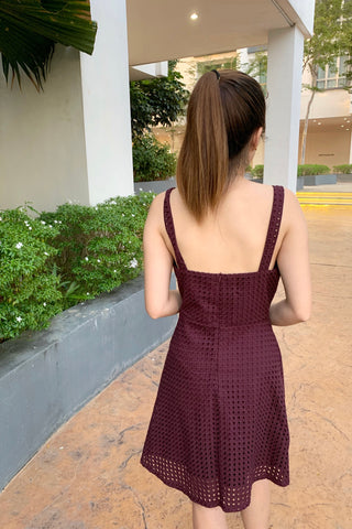 Eden Dress in Maroon