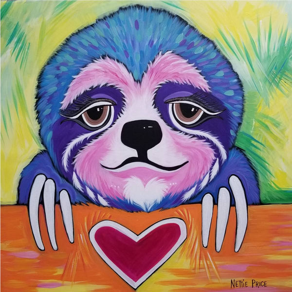 Hope the Sloth Sparkling Art Print