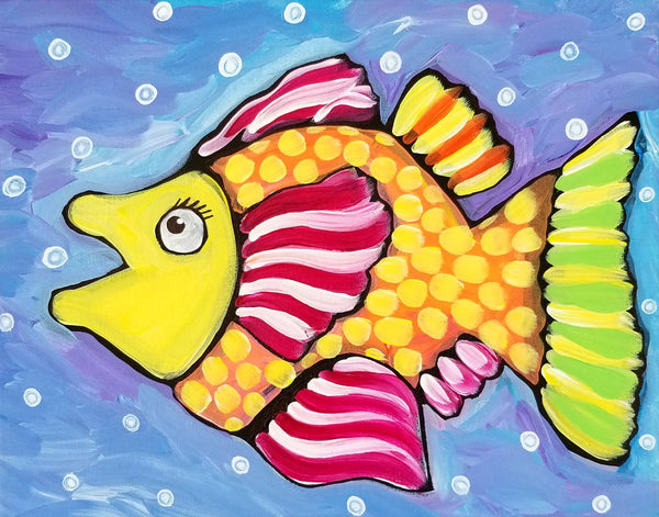 Palm Coast Fish 1 Original Acrylic Painting by Nettie Price