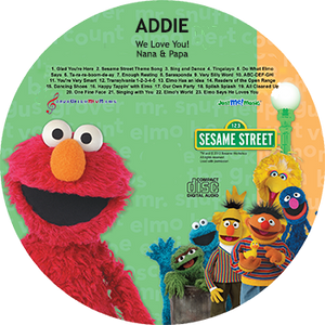 Personalized Elmo CD - MyMusicCD.com