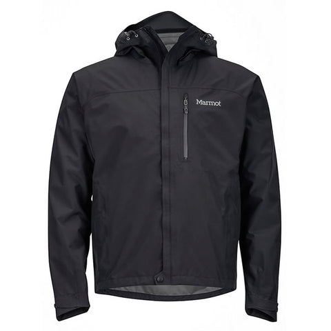 Marmot Men's Minimalist Jacket Goretex Paclite Black front view