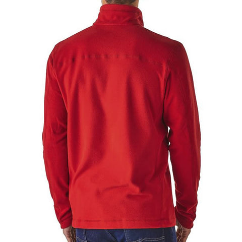 Patagonia Men's Micro D 1/4 Zip Fleece Pullover Front view in use