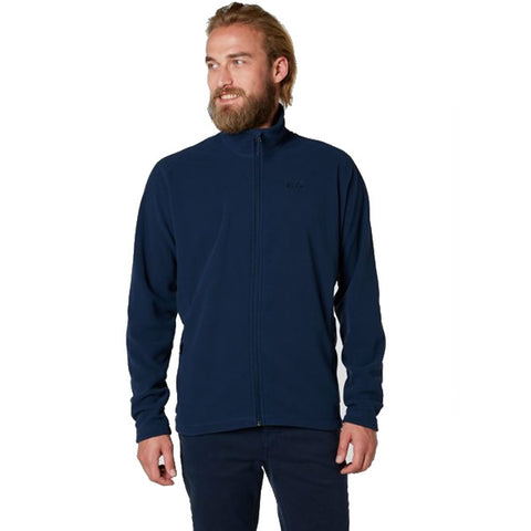 Helly Hansen Men's Polartec 100 Full Zip Jacket Front View evening blue