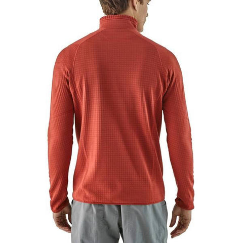Patagonia Men's R1 Fleece Pullover Regulator Fleece in use front view