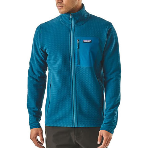 Patagonia Men's R2 TechFace Fleece Full Zip Jacket Front View