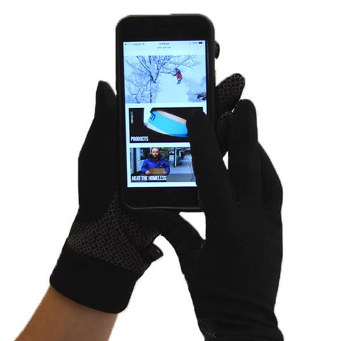XTM Arctic Liner Glove Black using phone