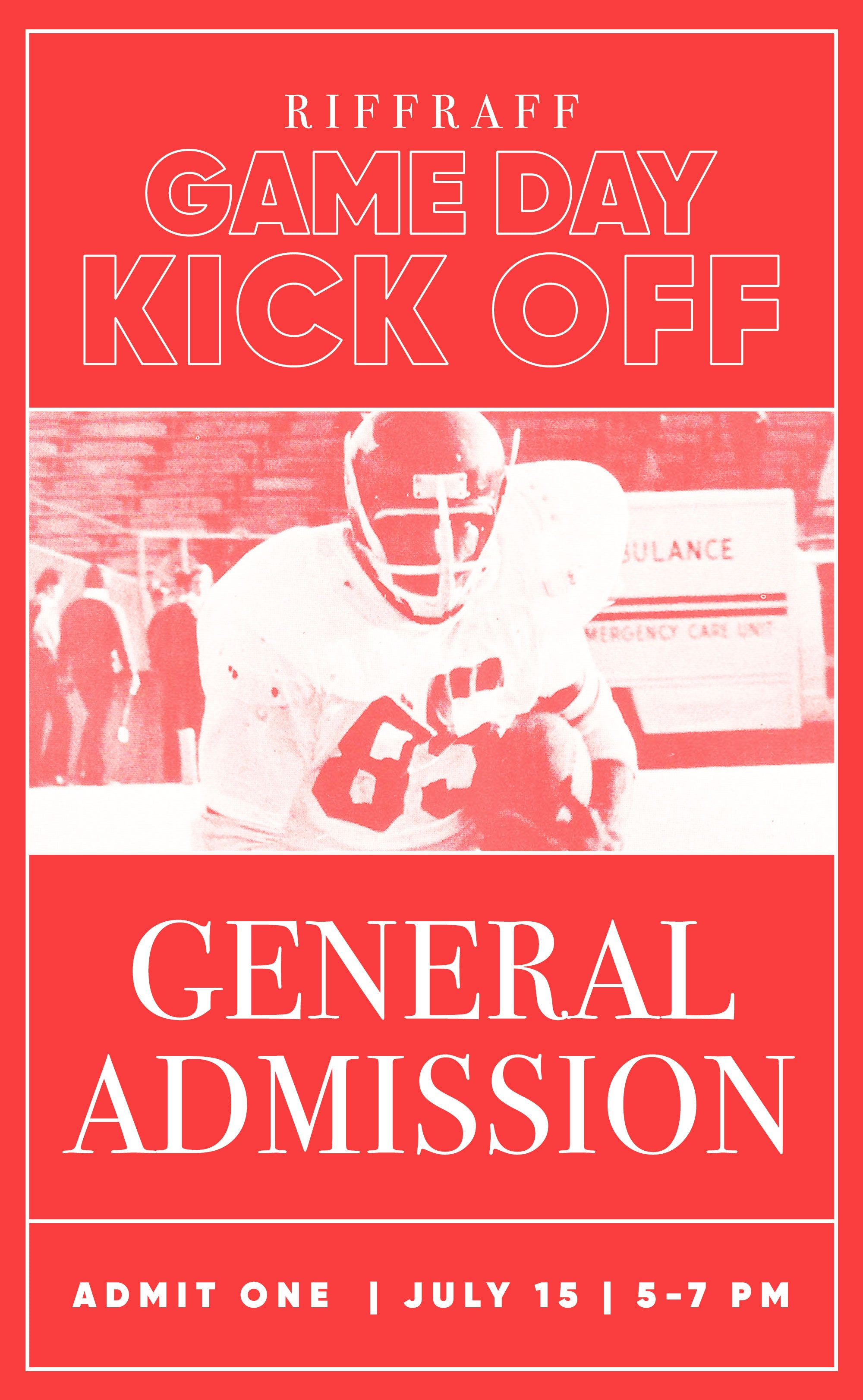 riffraff gameday kick off ticket - general admission
