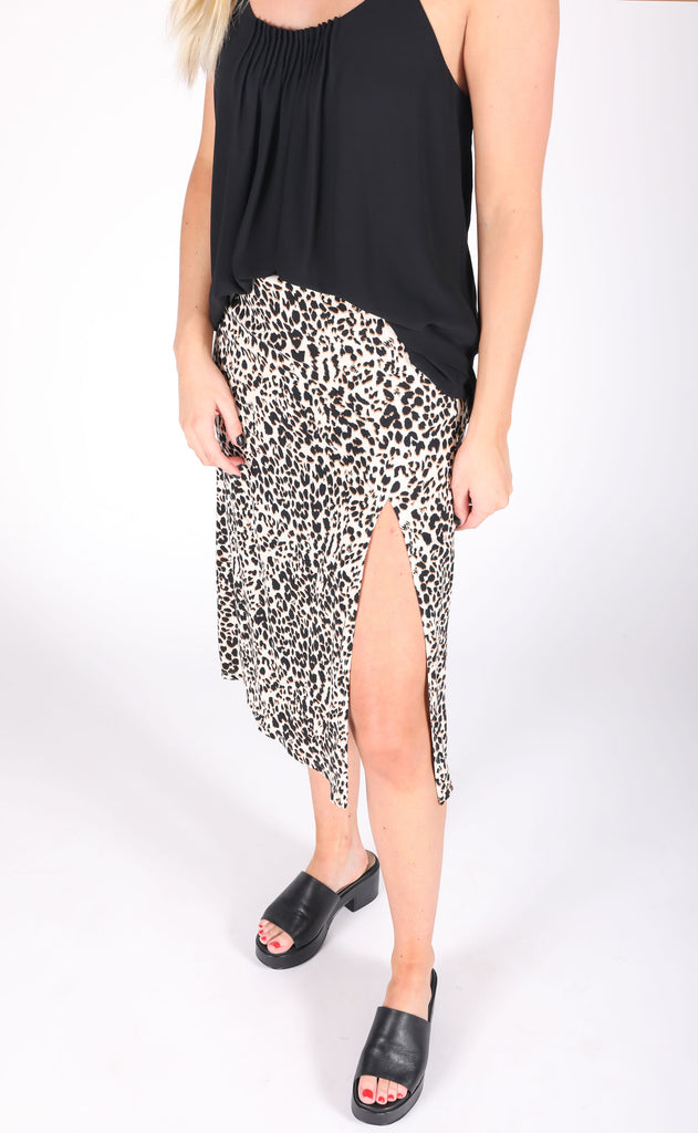 go wild printed skirt