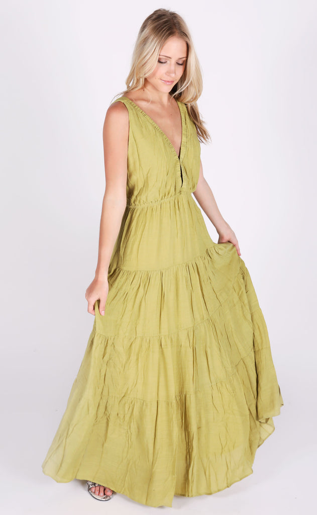 palms away maxi dress - green