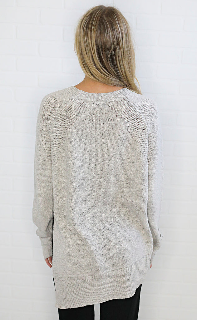 ready or not lace up sweater