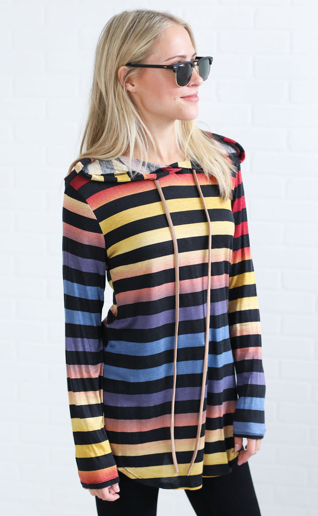 so relaxed striped hoodie