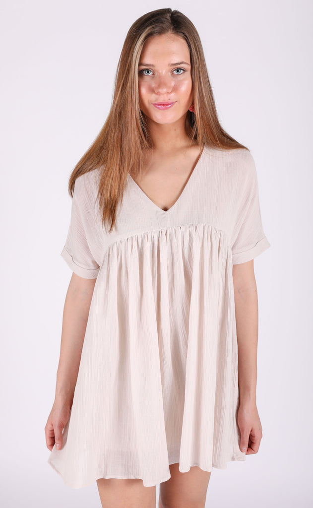 sunkissed babydoll dress - natural