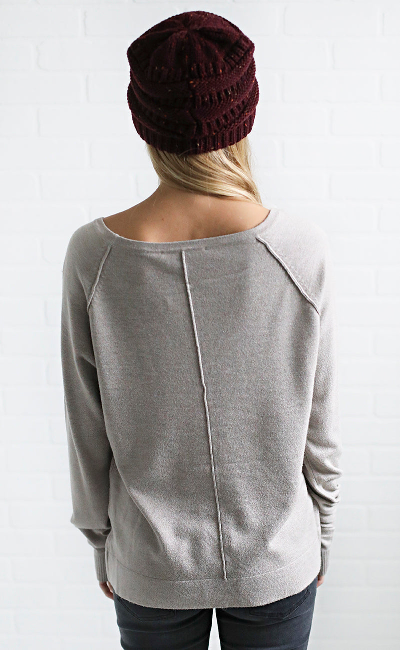 take it easy basic sweater