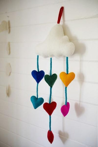 Felt mobiles-mobiles-Rainbows and Clover-natural animals-Rainbows and Clover