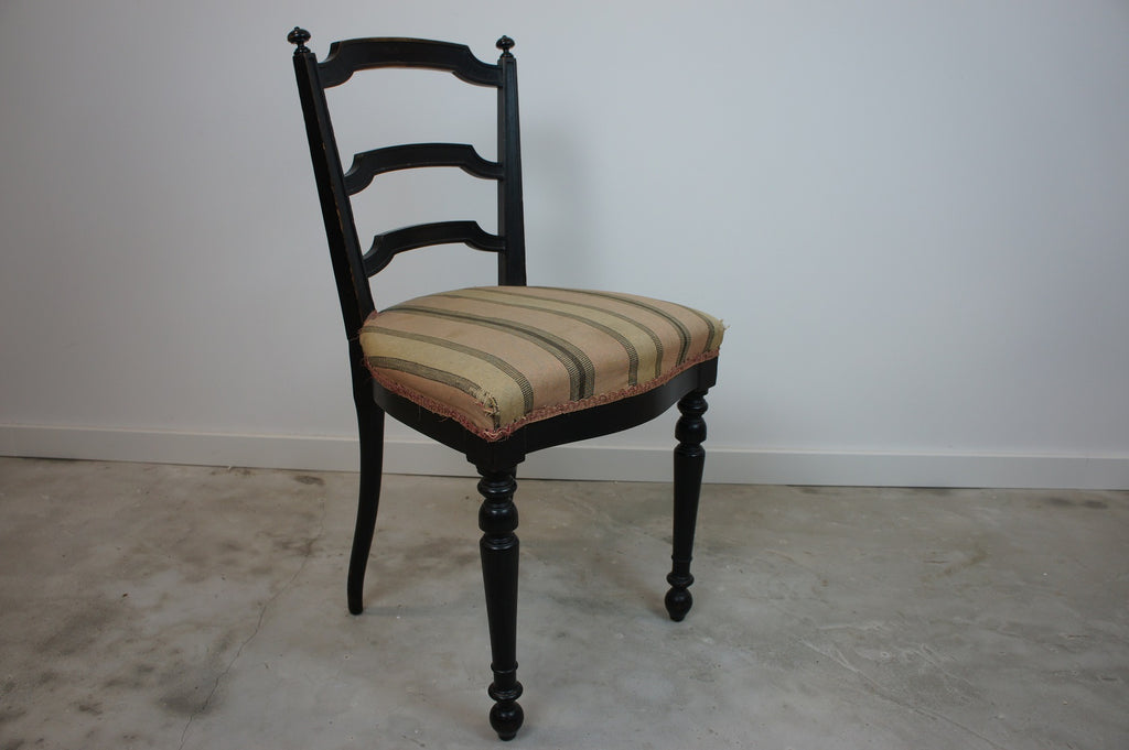 Nap III Ebonized Ladder Back Bedroom Chair