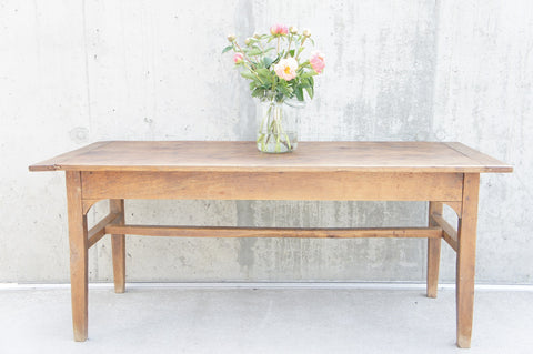 174.75cm Farmhouse Walnut Wood Dining Table Desk