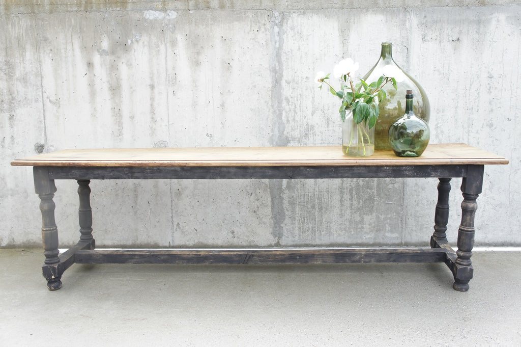 266cm Oak and Pine Farmhouse Refectory Serving Table