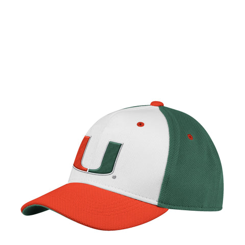 Miami Hurricanes Official Sideline Adidas Adjustable Structured Climalite Hat