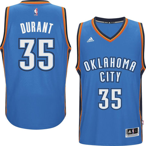Men's Oklahoma City Thunder Kevin Durant ADIDAS Swingman Road Jersey