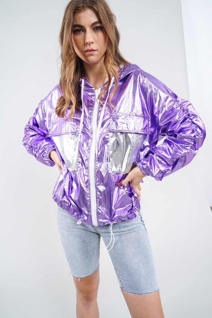 Settle The Score Windbreaker - Purple