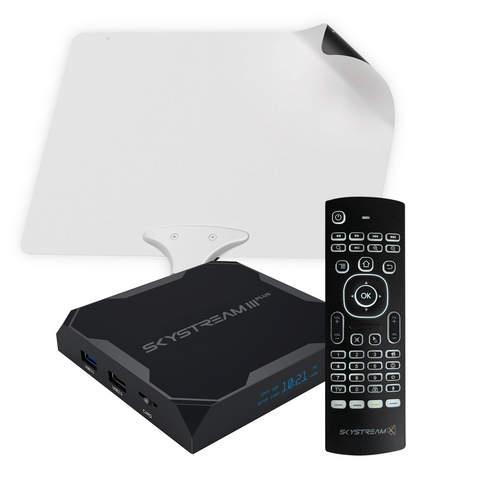 SkyStream Three Plus Android TV Box Cord Cutting Package