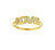 Diamond Lower Case Love Ring