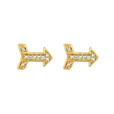 Diamond Arrow Stud Earrings