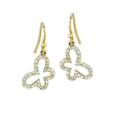 Diamond Butterfly Earrings