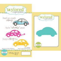 "Taylored Expressions Cling Stamp & Die Set 5.5""X3"" Wheely Great"