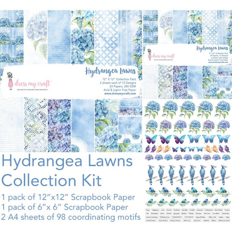Dress My Crafts Collection Kit - Hydrangea Lawns