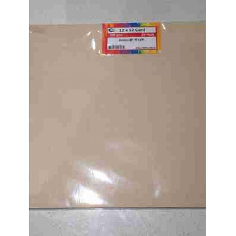 "Crafts4U 12'X12"" Card Smooth Oatmeal"