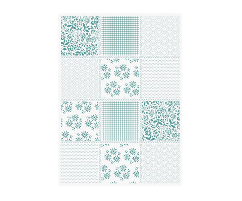 Sew Lovely - 5x7 Embossing Folder - Pretty Patchwork