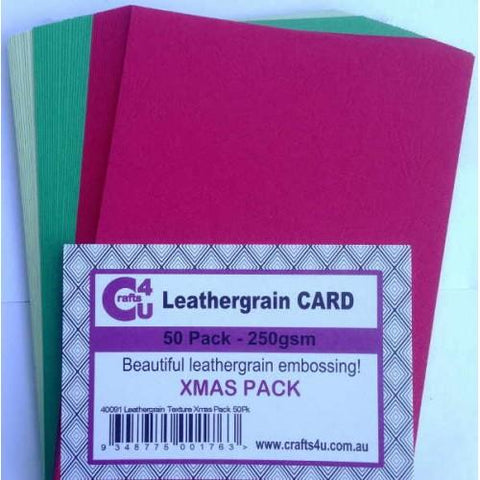 Crafts4U A5 Card Leathergrain Texture Xmas Pack