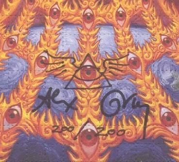 "Alex Grey ""Oversoul"" Signed Numbered Blotter Art - Shakedown Gallery"