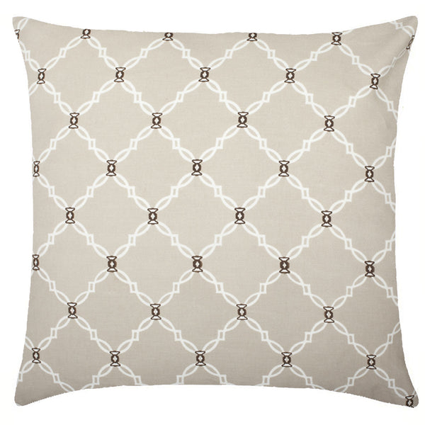 Kip Cotton Pillow - Natural & Brown