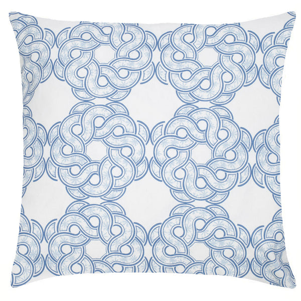 Maroc Etoile Cotton Pillow - Indigo & Sky Blue