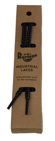 Dr Martens Round Black Grey Industrial Laces